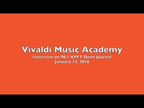 Vivaldi Music Academy 90.1 FM KPFT Interview—January 12, 2016