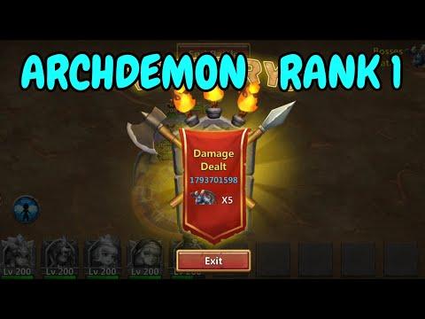 Archdemon L 11.8B DMGl Rank 1 L Castle Clash