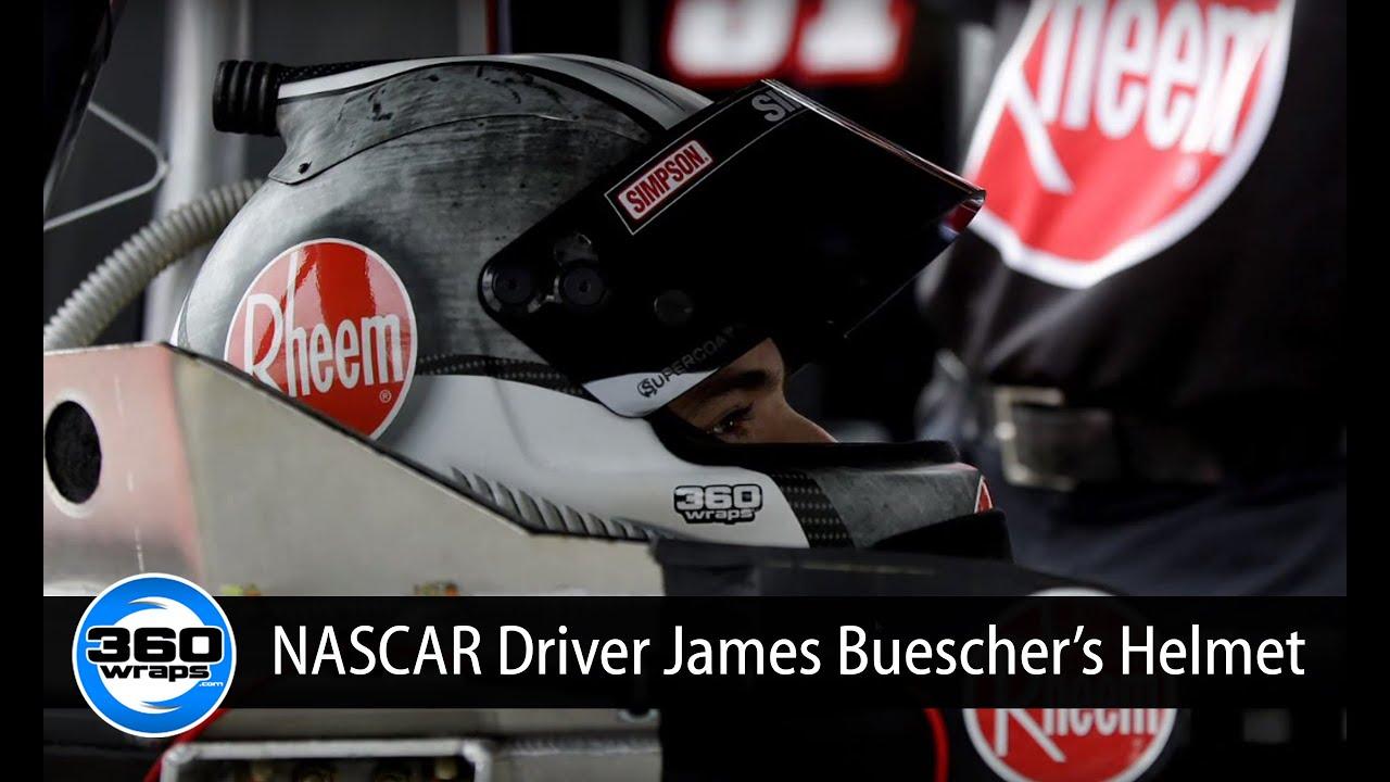 Helmet Vinyl Wrap For Nascar Driver James Buescher Youtube