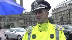 Strathclyde Police display cars impounded from gangsters