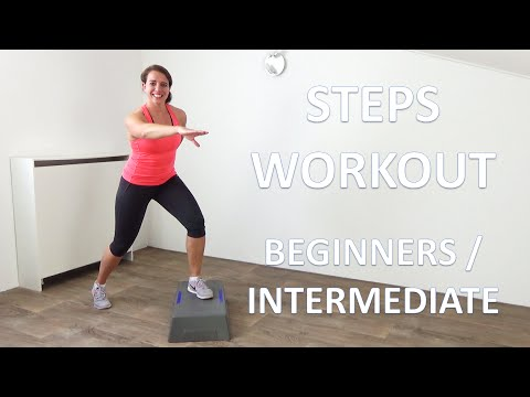 10 Minute Steps Workout – Beginners To Intermediate Step Exercises