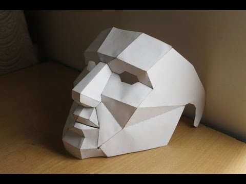 photograph relating to 3d Paper Mask Template Free Printable named How towards crank out lower poly 3d mask