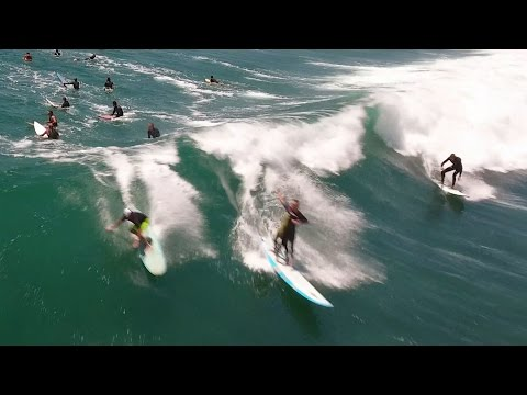 Surfing Malibu, California in 4K