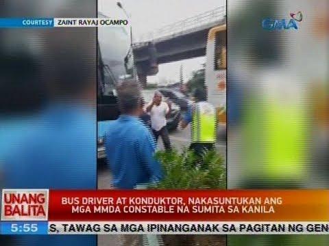 UB: Bus driver at konduktor, nakasuntukan ang mga MMDA constable na sumita sa kanila