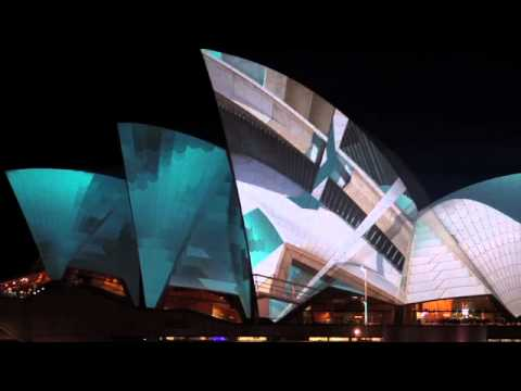 Sydney Opera House: Lighting the Sails 2012 by URBANSCREEN
