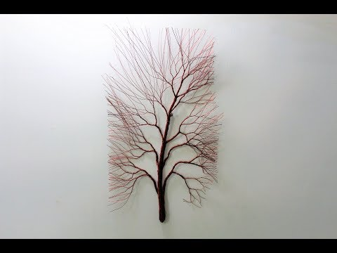 How to make wire tree for wall.