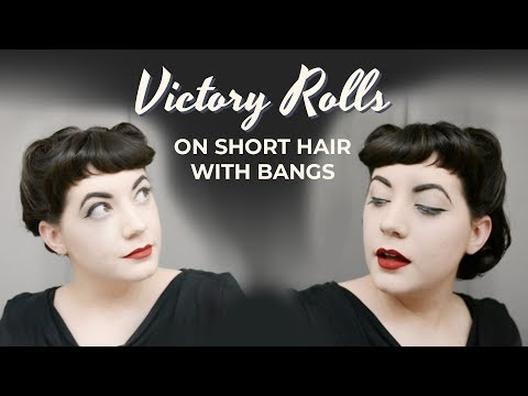 The Closet Historian Victory Rolls On Short Hair With Bangs Video