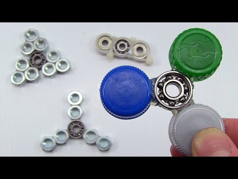 HOW TO MAKE A FIDGET SPINNER HOMEMADE - AWESOME FIDGET TOY TEST