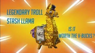 FORTNITE PvE : Opening Legendary Troll Stash Llama || Is it worth the v-bucks?