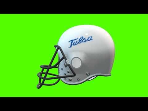 Tulsa Golden Hurricane helmet 2 chroma