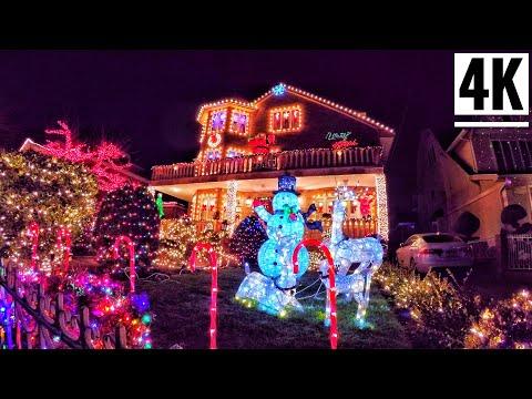 ⁴ᴷ⁶⁰ Dyker Heights Christmas Lights 2019 Brooklyn, New York City | Christmas in New York City 2019