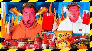 Worlds SPICIEST Drink CHALLENGE! Loser DRINKS (Papa Jake Vs Logan Challenge)
