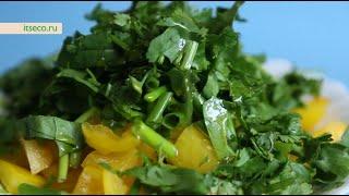 Рецепт: Салат «Чечевица под зеленью»