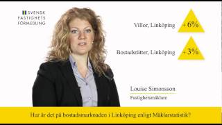 Svensk Fastighetsförmedling Linköping kommenterar Mäklarstatistik (v 16 2012)
