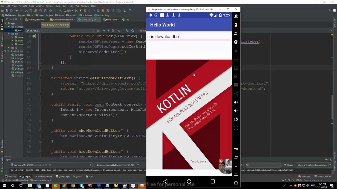Android app view pdf from Google Drive