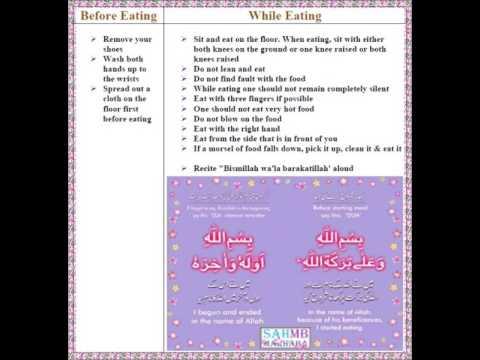 SAHMB Marhaba - Islamic Guide Of Before Eating