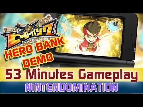 3DS - Hero Bank - 53 Minutes Demo Gameplay ヒーローバンク