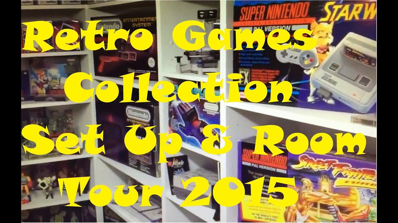 Retro Game Room Tour Gaming Set Up Nintendo NES SNES - Retro games room ideas