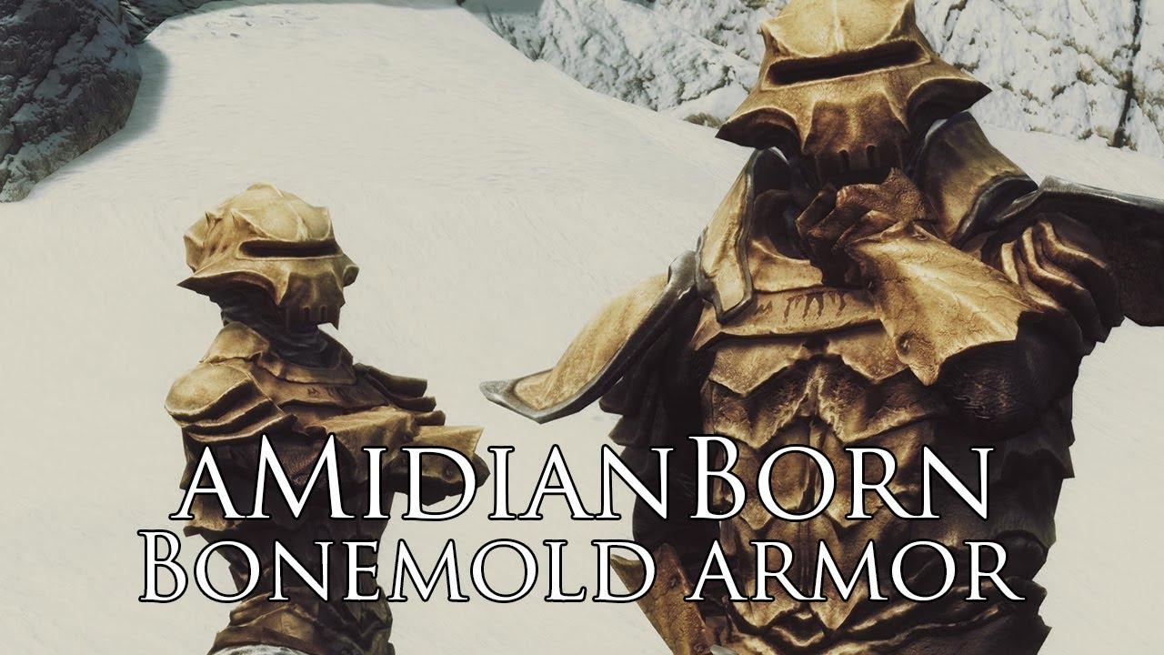 TES V - Skyrim Mods: aMidianBorn Bonemold Armor