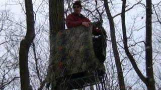 Tree Stand, Shooting Rail, And Stand Wrap