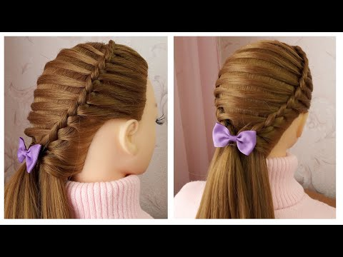 Tuto coiffure avec tresse pour petite fille | Quick & Easy Party Hairstyle tutorial for girls thumbnail
