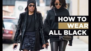 How To Make All Black Outfits Interesting
