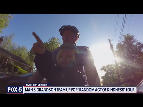 Northern Virginia man and grandson wrap up random act of kindness tour | FOX 5 DC