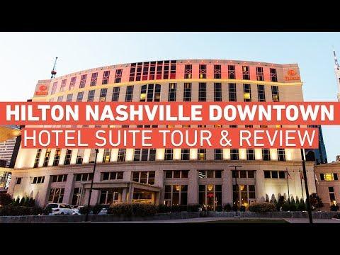 Hilton Nashville Downtown - Hotel Room Tour & Review (2018)