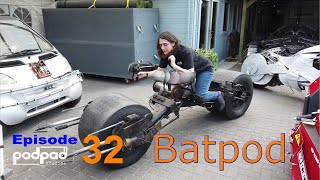 Building the Steampod. Hand made real Batpod, Batbike. The Dark Knight films Podpadstudios S1 Ep 32