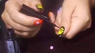 pacman - nail art tutorial