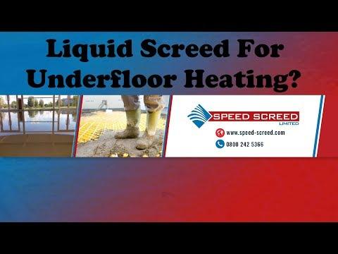 Liquid Screed For Underfloor Heating?