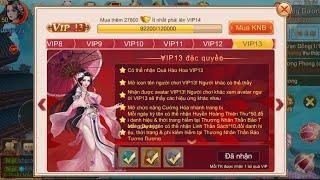 Trải Nghiệm VIP13 Kiếm Thế Truyền Kỳ Mobile   Nạp Bao Nhiêu Tiền Để Lên Từ VIP1 - VIP15?