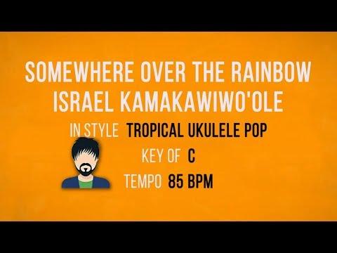 Somewhere Over The Rainbow - Israel Kamakawiwo'ole - Karaoke Backing Track - Male Singers