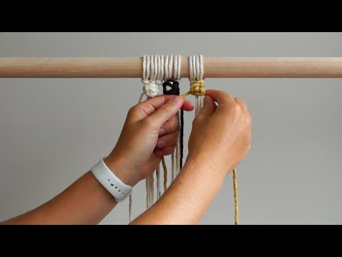 DIY Macrame Tutorial - How To Change Colours When Tying Berry Knots!