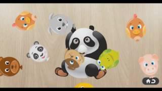 Учим животных | Пазлы игра для детей | Звуки животных Первая часть