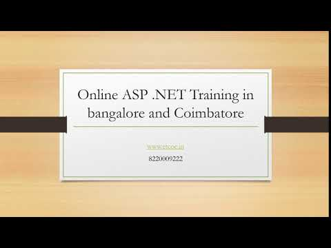 Online ASP  NET Training in bangalore and coimbatore-www.etcoe.in