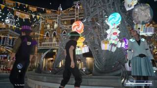 Final Fantasy XV Decorating The Park Moogle Chocobo Carnival Minigame | MeMoRiies_X