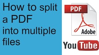 How to split a PDF document into multiple files free