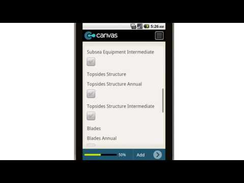 Canvas Offshore Wind Turbine Facility Inspection Summary Mobile App