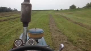 Baling red clover/ orchard grass mix!