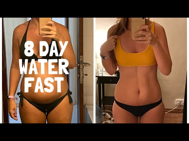 water diet for a month