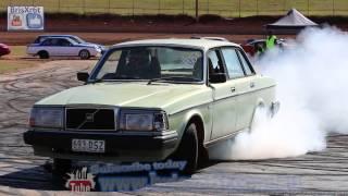 Volvo Skid at Talks Cheap Burnouts