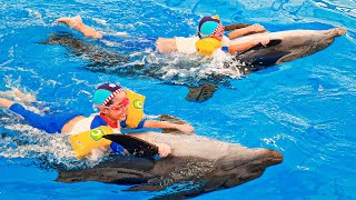 หนูยิ้มหนูแย้ม ว่ายน้ำกับโลมา Pattaya Dolphinarium