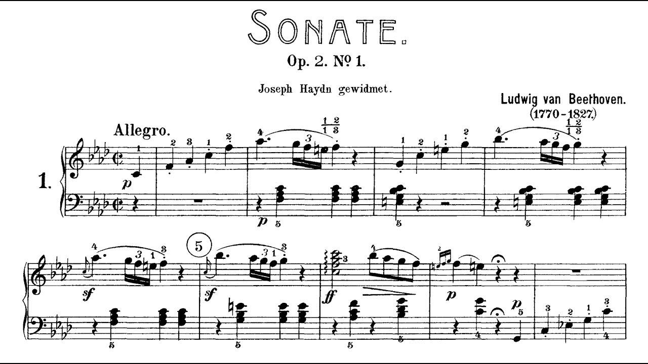 Sonata No. 1 - Piano
