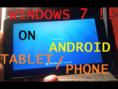 How To Install Windows 7 On Android Tablet Phone
