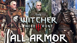 THE WITCHER 3 - All Armor Showcase (main game + DLC + mods) [4K]