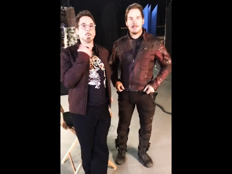 Robert Downey Jr FB Live from the set of Marvel's Infinity War!!!