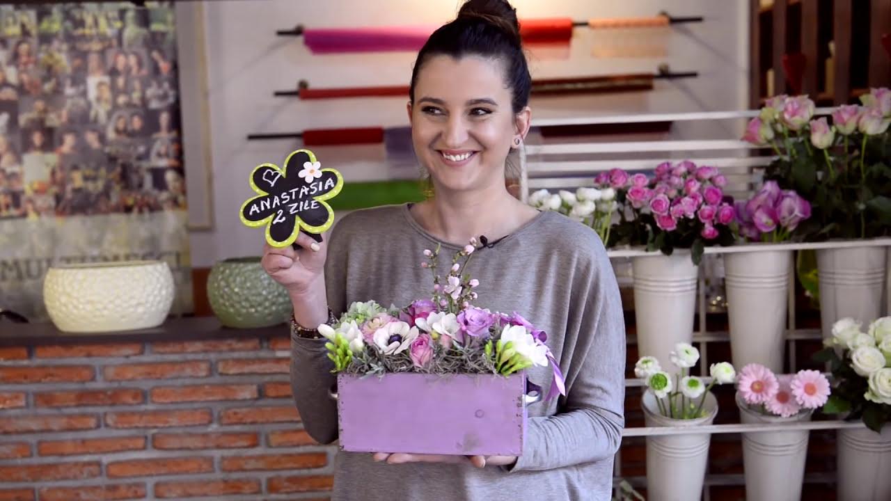 Tutorial Aranjamente Florale Cutie Cu Flori Youtube