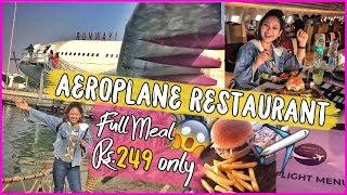 AEROPLANE Restaurant in DELHI✈️😱! #QuirkyEats Ep.9