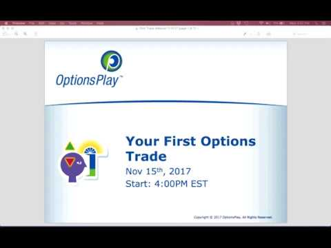 Trading Your First Option - Canada